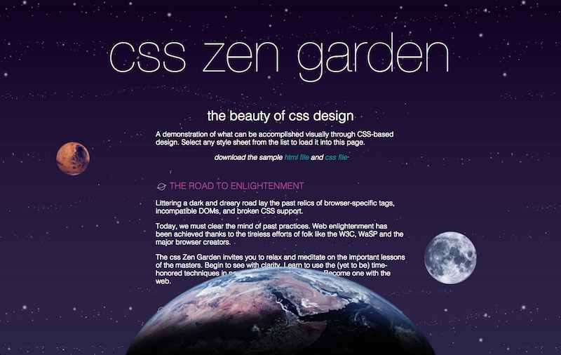 A-6: CSS Zen Garden Project | learn. Zen Garden Design Html on landscape design, loft design, zen gardens in japan, zen gardens landscaping, zen space, zen small backyard ideas, zen gardening, mail kiosk design, pergola design, zen art, okinawa design, pool design, zen symbols, zen flowers, zen doodle designs instruction, zen paint colors, patio design,