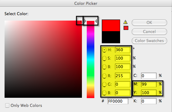 Figure 2: RGB Color Mode - Pure Red Hue