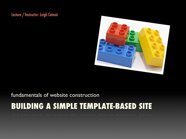 Building a Template-Based Site PDF Presentation
